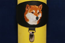 Shiba Inu (Siba Inu) arm band ring number holder with clip. For dog shows.