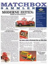 """Matchbox Collectibles """"Der Matchbox-Sammler"""" Zeitung Nr.5 1998"""