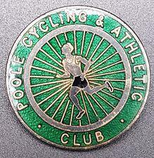 Vintage Poole Cycling & Athletic Club Enamel Pin Badge