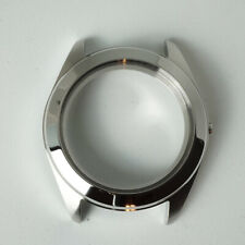 Custom Polished Steel Case for Seiko Movements NH35 3 o'clock Mod Part