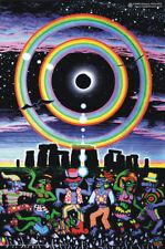Poster uv blacklight fluorescent des Psychédélique Psy Goa Transe Art