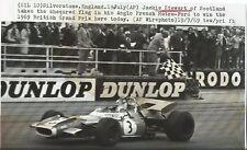 Jackie Stewart MATRA Ford Gran Premio di SILVERSTONE 1969 FOTOGRAFIA ORIGINALE