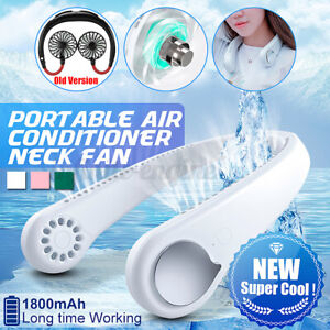 Portable USB Hanging Neck Fan 2 in 1 Air Cooler Mini Electric Air Conditioner❤️