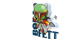 STAR WARS BOBA FETT 3d Mini LED DECO LáMPARA DE PARED Nuevo Regalo Genial