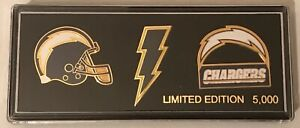Los Angeles Chargers Collector 3 Pin Gift Set  Limited Edition  CHRISTMAS