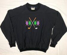 00fc2c50fa Vtg Sunderland Of Scotland Mens Embroidered Black Pullover Windbreaker Sz  Large