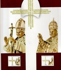 folder postale 2014 canonizzazione beati giovanni paolo II°e giovanni XXIII°