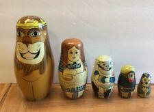 Vintage Matrioshka Nesting Dolls- Wizard of Oz 5 pcs set, 5 ½�, Original Box