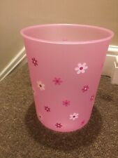 VERY PRETTY PINK ON FLOWERS GIRLS WASTE BIN-NEXT DAY POST-LONDON