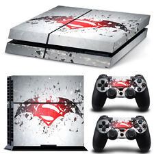 SuperMan Batman Super Heroes Cover Skin Sticker for PS4 Console & Controllers