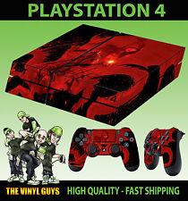 PS4 Skin Dragon Age Fantasy Warrior RPG Dark Red Sticker + Pad decals Vinyl LAID