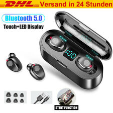 Kopfhörer Bluetooth 5.0 Sport Headset 2200mAh Ladebox Power Bank Touch Control