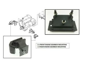 2 X FRONT & 1 X REAR ENGINE GEARBOX MOUNTING For NISSAN NAVARA D40 2.5TD (5/05+)