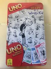 Rare Diary Of A Wimpy Kid Uno Card Game w/ Collectors Tin