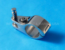 """Bimini Fittings Jaw Slide Hinged -Quick Release Pin 1"""" Marine Stainless Steel"""