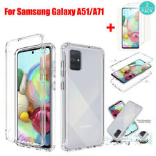 For Samsung Galaxy A51/A71 Shockproof Armor Clear Case Cover+Screen Protector
