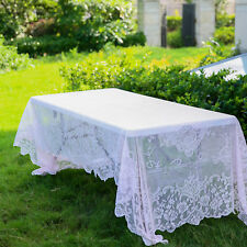 BLUSH 60x126 RECTANGLE Floral LACE TABLECLOTH Wedding Party Catering Kitchen