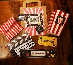 Movie night kit handcrafted filled  bags, film night, home cinema night