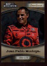 JUAN PABLO MONTOYA /125  2ND GEAR GOLD SP 2009 PRESS PASS SHOWCASE NASCAR #1 B6