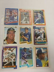 Lot of 18 Vintage Baseball Cards In A Protective Sheet - Binder A (10) EUC