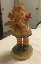 Vintage Japan Royal Crown Figurine Girl Musician Flute 33/668    21818