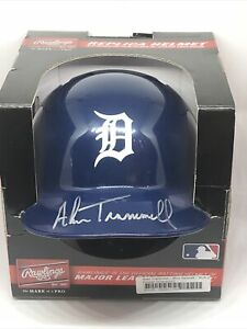 Alan Trammell Autographed Signed Detroit Tigers Mini Helmet JSA COA w/ Paint Pen
