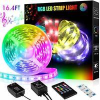 LED Strip Lights,16.4ft RGB Led Light Strip &Remote Color Changing 5050 LED Rope