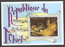 Chad Sc # 292F Paintings with Musical Instruments . Souvenir Sheet .Mnh