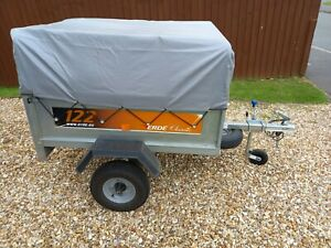 ERDE 122 TRAILER WITH HIGH BARS AND COVER