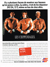 PUBLICITE ADVERTISING 084  1996  TOTAL  carte Club  LES CHIPPENDALES