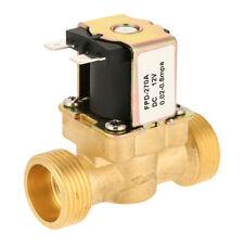 G3/4 DC 12V Magnetventil Elektrisch Wasserventil N/C Wasser Ventil Messing Neu
