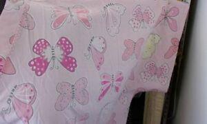 8X-9X--Scrub Top-Plus Size-Butterflies on Pink--bb