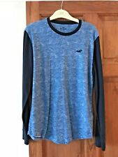 Mens Blue Hollister Long Sleeve Top / T-Shirt - Size Small