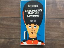 Vintage Bartholomew Childrens Map Of London