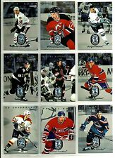 1996-97 DONRUSS RATED ROOKIES COMPLETE 10 CARD INSERT SET LOT Bure Alfredsson SP