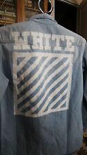 OFF-WHITE VIRGIL ABLOH Brushed Denim Shirt Size M Men's