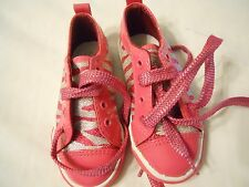 Ellemenno Girls Tennis Shoes Size 7 Toddler Footwear Pink Silver Fashion
