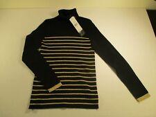 Lauren Ralph Lauren Women's Metallic Striped Turtleneck Sweater SZ. LARGE
