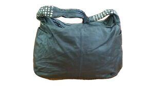 Ladies Leather Hand Bag Monsoon very Large Chocolate shoulder bag stud detail