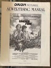 UNDER FIRE (1983) Nick Nolte, Gene Hackman, Joanna Cassidy Pressbook