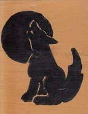 """howling wolf alias smith and rowe Wood Mounted Rubber Stamp 2 1/2 x 2"""" Free Ship"""