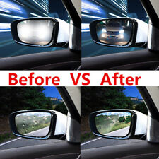 1x New Clear Rectangle Car Window Protective Film Anti Fog Water Mist Rainproof