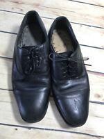 Florsheim Mens Size 9.5 Black Leather Dress Shoe Cap Toe Lace Up Oxford D17168