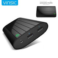Vinsic Ultra Slim Dual USB Power Bank 20000mAh External Portable Battery Charger