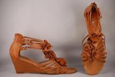 Women's Jet 7 Tan Leather Wedge Sandals US 9.5 EUR 41