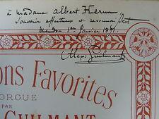 piano solo ALEXANDRE GUILMANT cantilene pastorale op.15 , + signed dedication