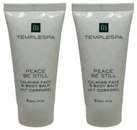 Temple Spa Peace Be Still Calming Face Body Balm Lotion 2 1oz tubes Total of 2oz