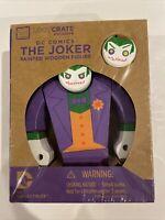 DC Comics The Joker Painted Wooden Figure Loot Crate Exclusive