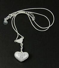 Women's 925 Silver plated heart Pendant and snake chain Necklace Jewellery