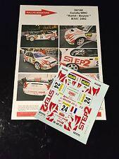 DECALS 1/24 TOYOTA COROLLA AURIOL RALLYE MONTE CARLO 2002 WRC RALLY HASEGAWA